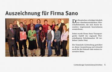 SANO est une entreprise engagée et modèle parmi les entrepreneurs régionaux