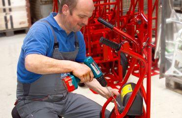 Transformation de la société en Sano Transportgeraete Ing. Jochum Bierma KG,Transfert de la production à Lichtenberg - Am Holzpoldlgut 22, Autriche