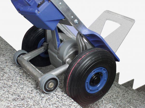 etrier avec roues support freinées en position avance