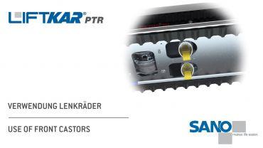 LIFTKAR PTR monte-escaliers a chenillette - utilisation de roulettes avant
