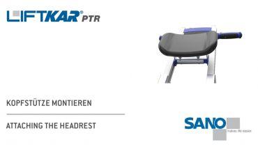 LIFTKAR PTR monte-escaliers a chenillette - fixation de l'appui-tête