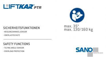 LIFTKAR PTR monte-escaliers a chenillette - fonctions de sécurité