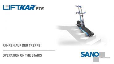 LIFTKAR PTR monte-escaliers a chenillette - opération dans les escaliers