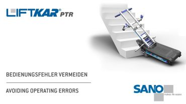 LIFTKAR PTR monte-escaliers a chenillette - éviter les erreurs de fonctionnement