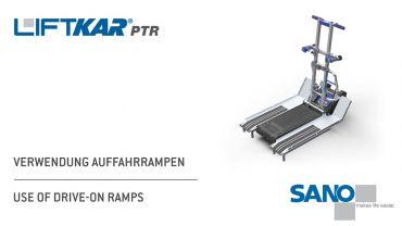 LIFTKAR PTR monte-escaliers a chenillette - utilisation de rampes ascendantes