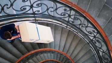 Liftkar SAL Ergo, Fold, Fold-L monte-escalier électrique avec des charges lourdes sur escaliers en colimaçon