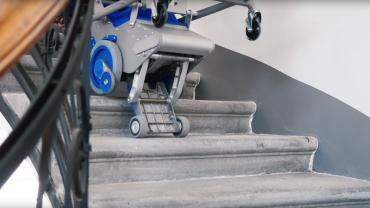 Liftkar PT S + Liftkar PT Uni monte-escalier électrique sur escaliers en colimaçon