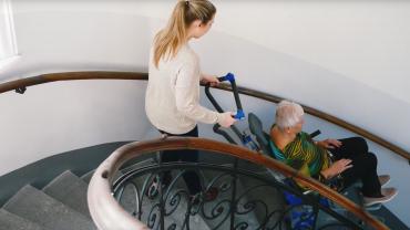 Liftkar PT S monte-escalier électrique sur escaliers en colimaçon